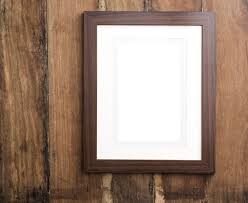 simple wood free image of single empty simple wooden frame with mount card