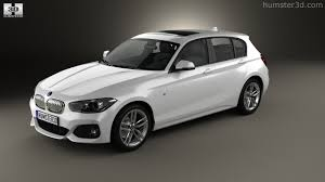 white bmw 1 series sport 360 view of bmw 1 series f20 5 door m sport package 2015 3d