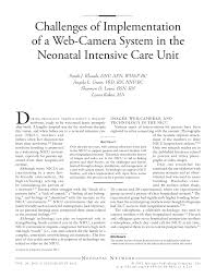 Responsibilities Of A Neonatal Nurse Challenges Of Implementation Of A Web Camera System In The