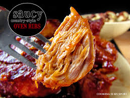 saucy country style oven ribs cooking is my sport