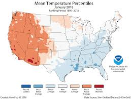 temperature map usa january assessing the u s climate in january 2018 national centers for
