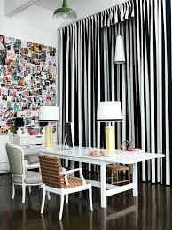 Black White Stripe Curtain Black And White Living Room Curtains Living Room Black And White