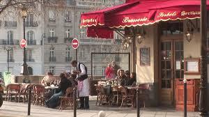 Cafe Awning Street Scene Paris France Hd Stock Video 688 175 783