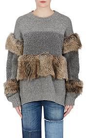 fur sweater stella mccartney fur free fur wool sweater barneys york