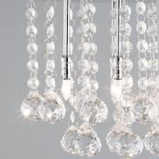 Glass Droplet Ceiling Light by Melanie Crystal Effect U0026 Chrome Flush Ceiling Light From Litecraft