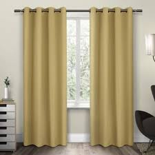 Yellow Brown Curtains Buy Yellow Panel Curtains From Bed Bath Beyond