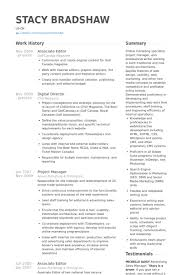 nonsensical resume editor 15 associate editor resume samples