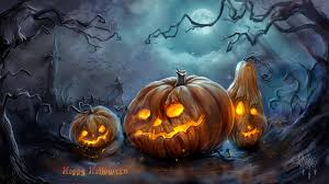 blue halloween background happy halloween day holiday wishes text pictures card for facebook