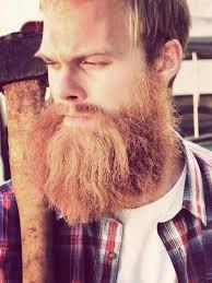 full thick bushy long red beard and mustache beards bearded man