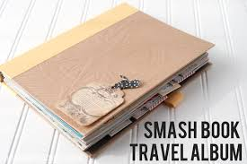 travel photo album smash book travel album the polka dot chair