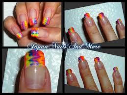 rainbow gel nail art design youtube