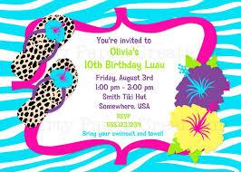 luau birthday party invitation wording choice image invitation