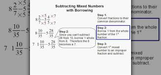 how to subtract mixed numbers with borrowing math wonderhowto