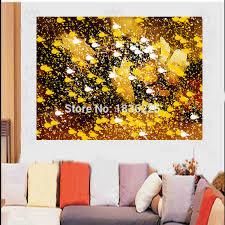 handmade bright colored abstract oil paintings landscape for