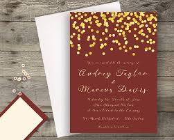 Red And Gold Wedding Invitation Cards Marsala Navy Invite Etsy