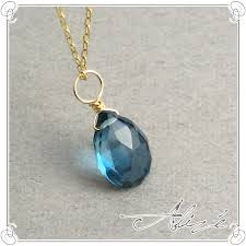 topaz stone necklace images Alize rakuten global market k10 gold london blue topaz necklace jpg