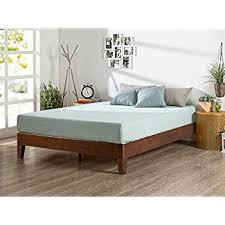 amazon com zinus 12 inch deluxe wood platform bed no boxspring