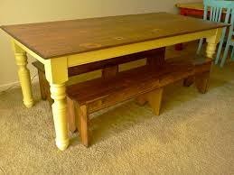 Farm Tables With Benches Ana White Turned Leg Farmhouse Table Diy Projects