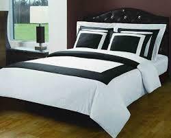 7 pc white u0026 black extra long twin xl size hotel down alternative