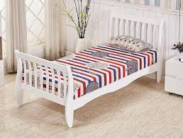 White Wood Single Bed Frame White Pine Wood Single Bed Frame New Sleigh Design Furniture Maxi