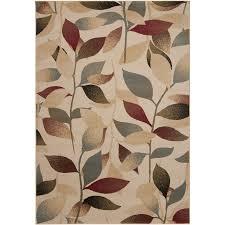 decor astounding beige color based leaves pattern lowes indoor