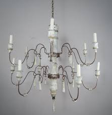 Swedish Chandelier Swedish Painted Wood Iron 12 Light Chandelier Levinson
