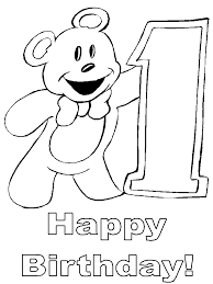1st birthday coloring birthday coloring pages 22255