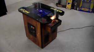 vintage 1980 pac man cocktail table arcade game cabinet overview