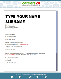 another 4 free downloadable cv templates for south african job