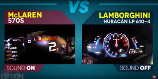lamborghini huracan speedometer lamborghini huracan takes on mclaren 570s coupe in acceleration