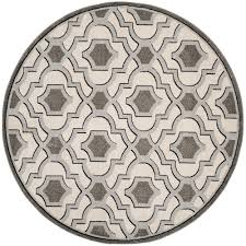Round Indoor Outdoor Rug Safavieh Amherst Ivory Gray 7 Ft X 7 Ft Indoor Outdoor Round