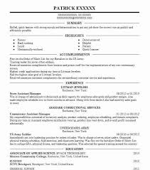 Resume Order Of Jobs Best Installation Repair Assistant Store Manager Resume Example