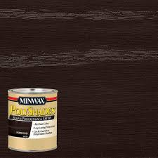 Home Depot Paint Interior Minwax 1 Qt Polyshades Espresso Satin Stain And Polyurethane In 1