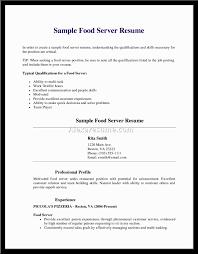 Resume For Server Job 100 Resume For Waitress Sample Resume Cover Letters Sample