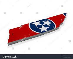 Tennesse Flag American Tennessee 3d Shape Flag Stock Illustration 494505592