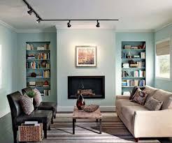 livingroom shelves living room with built in shelves and track lighting change the