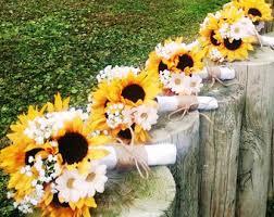 sunflower wedding bouquet 10 sunflower bouquet malibu blue yellow sunflower bridal