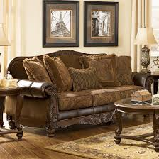 Signature Design By Ashley Fresco DuraBlend Antique Traditional - Antique sofa designs