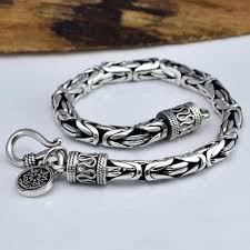 silver fine bracelet images Men 39 s fine silver byzantine chain bracelet jpg
