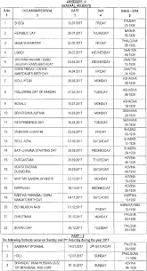 jntuh general optinal holidays list for the year 2017