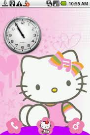clock themes for android mobile hello kitty theme android themes android mobile wallpapers apps
