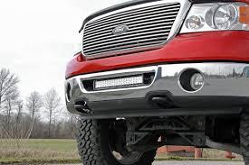 ford f150 20in dual row single row led light bar hidden bumper mounting