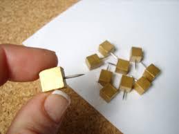 square gold push pins decorative tacks gold desk accessory