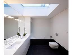 Skylight Design Minimalist Bathroom With Skylight And Modern Fixtures Ways To