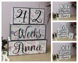 unicorn baby shower gift unicorn baby age blocks with name