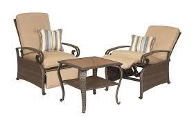 lake como combo two patio recliners and side table khaki tan