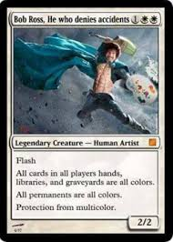 Magic Card Meme - fake magic card memes 003 bob ross painter 3 pinterest bob