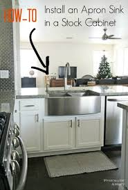 what size base cabinet for 33 inch sink how to install an apron sink in a stock cabinet farmhouse