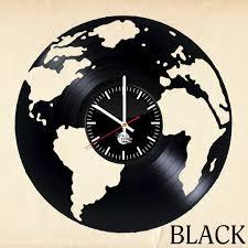 globe vinyl record unique wall clock vinyl clocks