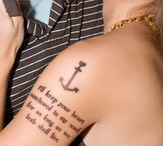 anchor tattoos with quotes pretty designs